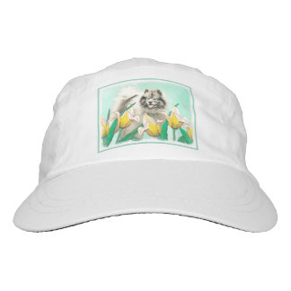 Keeshond in Tulips Hat