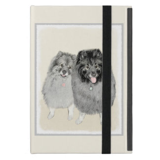 Keeshond Mom and Son Painting - Original Dog Art iPad Mini Cover