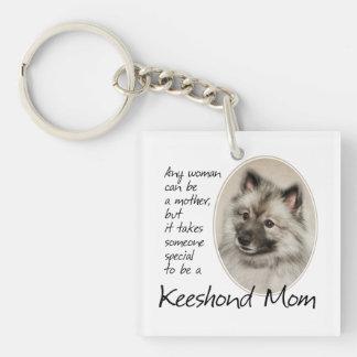 Keeshond Mom Key Ring