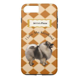 Keeshond on Argyle add name iPhone 8 Plus/7 Plus Case