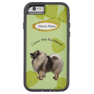 Keeshond on Green Leaves Tough Xtreme iPhone 6 Case