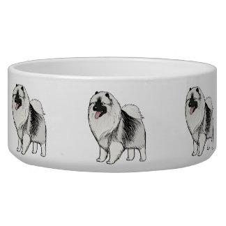 Keeshond Dog Food Bowl