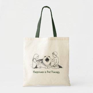 Keeshond Pet Therapy Tote Bag