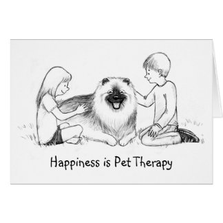Keeshond Pet Therapy with Customizable Text Card