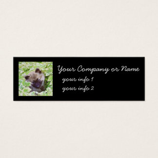 Keeshond Puppy (Brutus) Painting Original Dog Art Mini Business Card