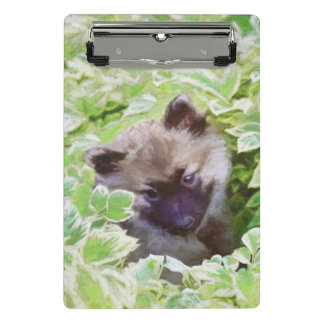 Keeshond Puppy (Brutus) Painting Original Dog Art Mini Clipboard