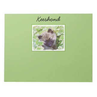 Keeshond Puppy (Brutus) Painting Original Dog Art Notepad