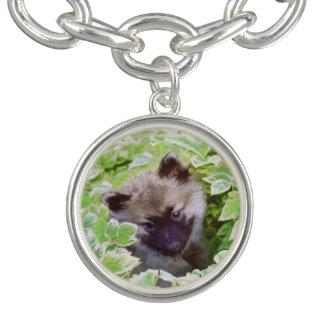 Keeshond Puppy Charm Bracelet