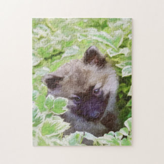 Keeshond Puppy Jigsaw Puzzle