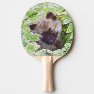 Keeshond Puppy Ping Pong Paddle