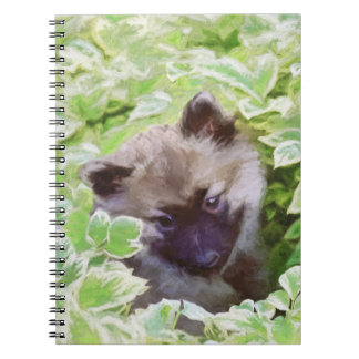 Keeshond Puppy Spiral Notebook