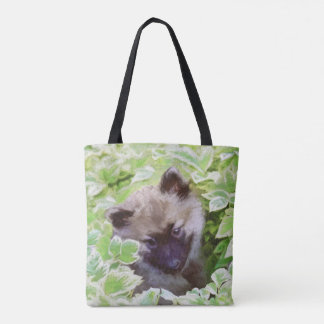 Keeshond Puppy Tote Bag