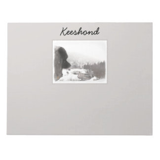 Keeshond Shadow's Creek Painting Original Dog Art Notepad