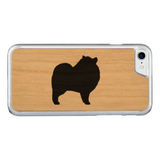 Keeshond Silhouette Carved iPhone 7 Case