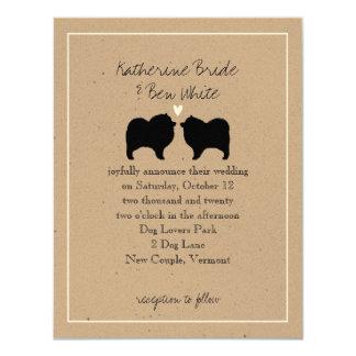 Keeshond Silhouettes Wedding Invitation