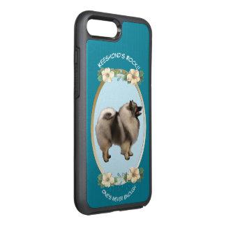 Keeshond, Turquoise Floral OtterBox Symmetry iPhone 8 Plus/7 Plus Case