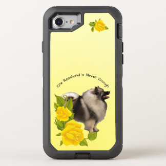 Keeshond, with Yellow Roses OtterBox Defender iPhone 7 Case