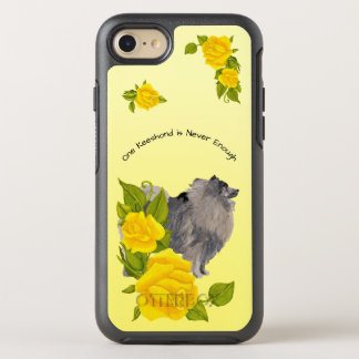 Keeshond, with Yellow Roses OtterBox Symmetry iPhone 8/7 Case