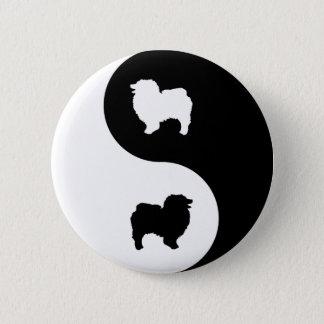Keeshond Yin Yang 2 Inch Round Button