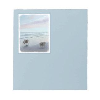 Keeshonds at the Seashore Notepad