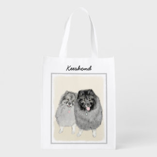 Keeshonds Reusable Grocery Bag