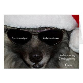 Keesi Ray Santa card