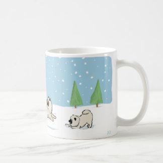Keesies Playing in the Snow Coffee Mug