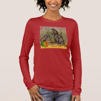 Keesling Leaf & Bear Harvest Ad Long Sleeve T-Shirt
