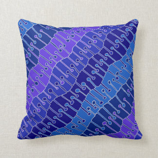 Keet Seel in purple, blue and white Throw Pillow