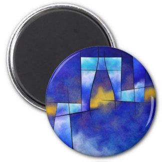 Kefharia V1 - cubic vision 2 Inch Round Magnet