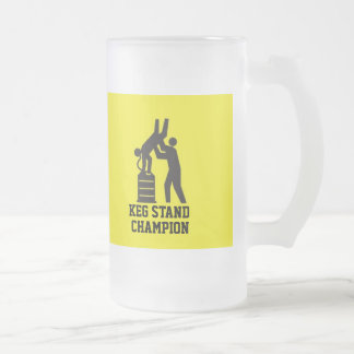 Keg Stand Champion Beer Mug