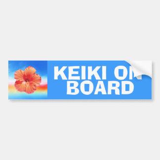 Keiki à bord des enfants avertissant le autocollant de voiture