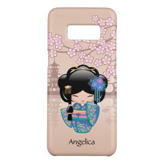 Keiko Kokeshi Doll - Blue Kimono Geisha Girl Case-Mate Samsung Galaxy S8 Case