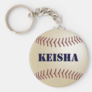 Keisha Baseball Keychain by 369MyName