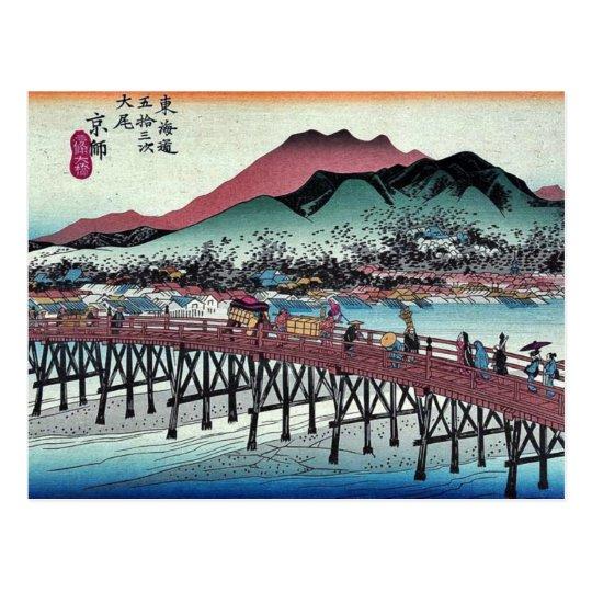 Keishi by Ando, Hiroshige Ukiyoe Postcard