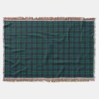 Keith Clan Dark Green Modern Scottish Tartan Throw Blanket