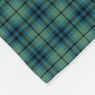 Keith Clan Light Green and Blue Ancient Tartan Fleece Blanket