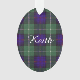 Keith clan Plaid Scottish tartan Ornament