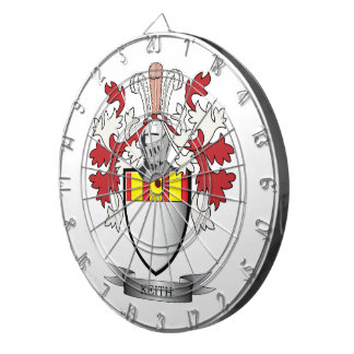 Keith Family Crest Coat of Arms Dartboard