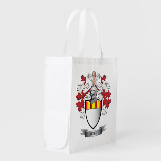 Keith Family Crest Coat of Arms Grocery Bags