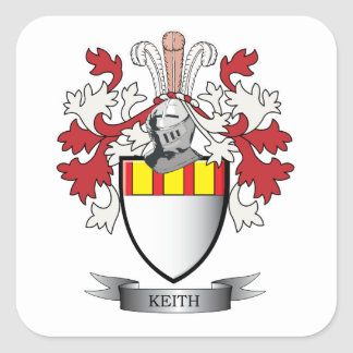 Keith Family Crest Coat of Arms Square Sticker