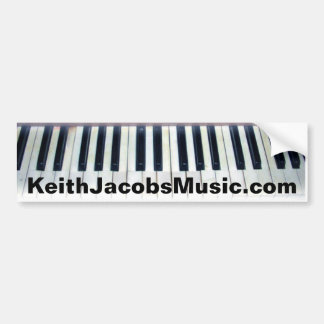Keith Jacobs piano keys bumpersticker Bumper Sticker