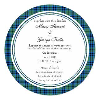 Keith Scottish Wedding Round Invitation