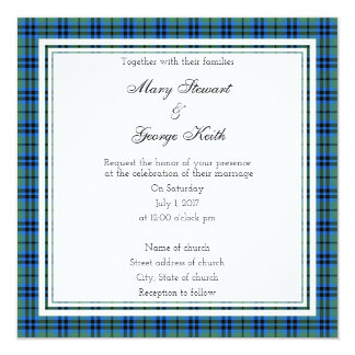 Keith Scottish Wedding Square Invitation