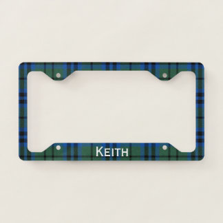 Keith Tartan Plaid License Plate Frame