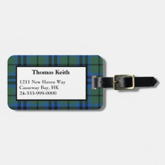 Keith Tartan Plaid Luggage Tag