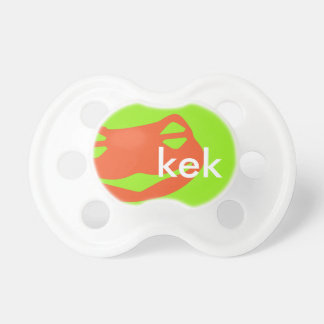 Kek Frog BooginHead® Pacifier Lime Custom Color