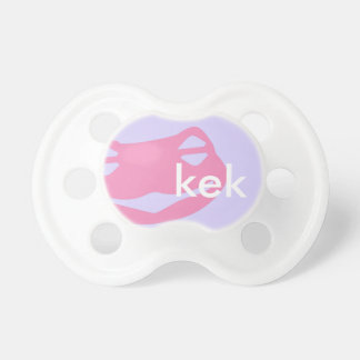 Kek Frog BooginHead® Pacifier Pink Custom Color