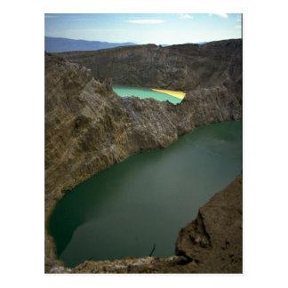 Kelimutu Crater Lakes, Moni, Indonesia Postcard