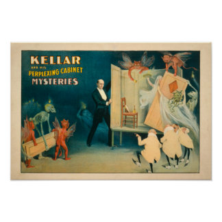 Kellar and his Perplexing Cabinet Mysteries Magi Poster